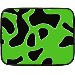 Black Green Abstract Shapes A Completely Seamless Tile Able Background Fleece Blanket (mini)