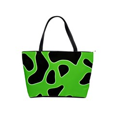 Black Green Abstract Shapes A Completely Seamless Tile Able Background Shoulder Handbags
