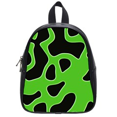 Black Green Abstract Shapes A Completely Seamless Tile Able Background School Bags (small)