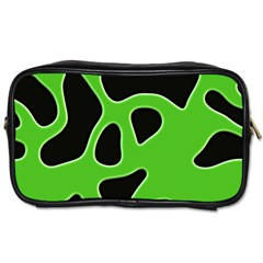 Black Green Abstract Shapes A Completely Seamless Tile Able Background Toiletries Bags 2 Side