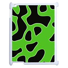 Black Green Abstract Shapes A Completely Seamless Tile Able Background Apple Ipad 2 Case (white)