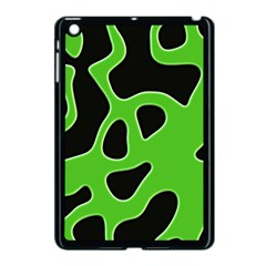 Black Green Abstract Shapes A Completely Seamless Tile Able Background Apple iPad Mini Case (Black)