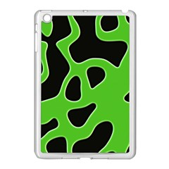 Black Green Abstract Shapes A Completely Seamless Tile Able Background Apple Ipad Mini Case (white)