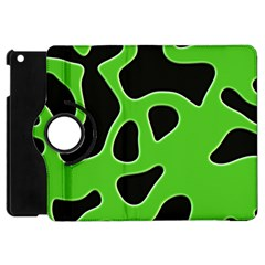 Black Green Abstract Shapes A Completely Seamless Tile Able Background Apple iPad Mini Flip 360 Case