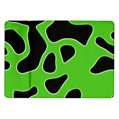 Black Green Abstract Shapes A Completely Seamless Tile Able Background Samsung Galaxy Tab 10.1  P7500 Flip Case