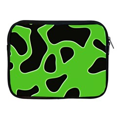 Black Green Abstract Shapes A Completely Seamless Tile Able Background Apple Ipad 2/3/4 Zipper Cases