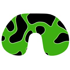 Black Green Abstract Shapes A Completely Seamless Tile Able Background Travel Neck Pillows