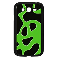 Black Green Abstract Shapes A Completely Seamless Tile Able Background Samsung Galaxy Grand DUOS I9082 Case (Black)