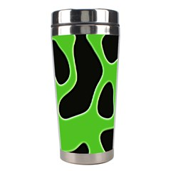 Black Green Abstract Shapes A Completely Seamless Tile Able Background Stainless Steel Travel Tumblers