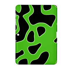 Black Green Abstract Shapes A Completely Seamless Tile Able Background Samsung Galaxy Tab 2 (10.1 ) P5100 Hardshell Case