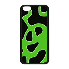 Black Green Abstract Shapes A Completely Seamless Tile Able Background Apple iPhone 5C Seamless Case (Black)