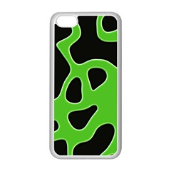 Black Green Abstract Shapes A Completely Seamless Tile Able Background Apple iPhone 5C Seamless Case (White)
