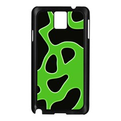 Black Green Abstract Shapes A Completely Seamless Tile Able Background Samsung Galaxy Note 3 N9005 Case (Black)