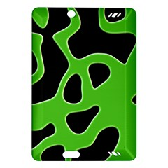 Black Green Abstract Shapes A Completely Seamless Tile Able Background Amazon Kindle Fire Hd (2013) Hardshell Case