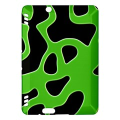 Black Green Abstract Shapes A Completely Seamless Tile Able Background Kindle Fire HDX Hardshell Case
