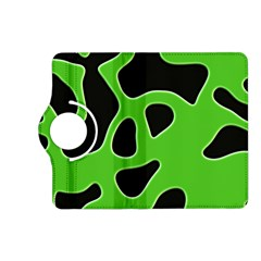 Black Green Abstract Shapes A Completely Seamless Tile Able Background Kindle Fire HD (2013) Flip 360 Case