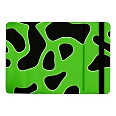 Black Green Abstract Shapes A Completely Seamless Tile Able Background Samsung Galaxy Tab Pro 10.1  Flip Case