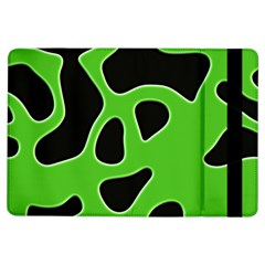 Black Green Abstract Shapes A Completely Seamless Tile Able Background iPad Air Flip