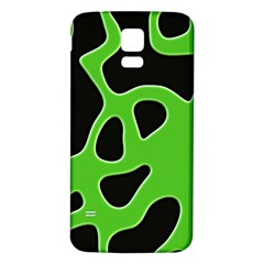 Black Green Abstract Shapes A Completely Seamless Tile Able Background Samsung Galaxy S5 Back Case (White)
