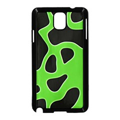 Black Green Abstract Shapes A Completely Seamless Tile Able Background Samsung Galaxy Note 3 Neo Hardshell Case (Black)