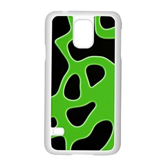 Black Green Abstract Shapes A Completely Seamless Tile Able Background Samsung Galaxy S5 Case (white)