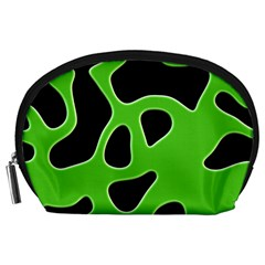 Black Green Abstract Shapes A Completely Seamless Tile Able Background Accessory Pouches (Large)