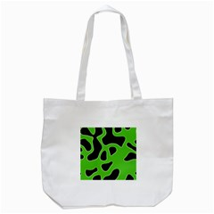 Black Green Abstract Shapes A Completely Seamless Tile Able Background Tote Bag (white)