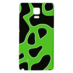 Black Green Abstract Shapes A Completely Seamless Tile Able Background Galaxy Note 4 Back Case