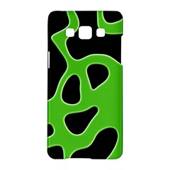Black Green Abstract Shapes A Completely Seamless Tile Able Background Samsung Galaxy A5 Hardshell Case