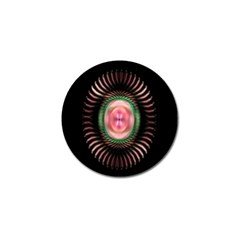 Fractal Plate Like Image In Pink Green And Other Colours Golf Ball Marker (10 pack)