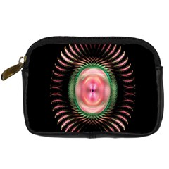 Fractal Plate Like Image In Pink Green And Other Colours Digital Camera Cases
