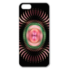 Fractal Plate Like Image In Pink Green And Other Colours Apple Seamless iPhone 5 Case (Clear)