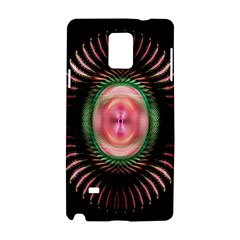 Fractal Plate Like Image In Pink Green And Other Colours Samsung Galaxy Note 4 Hardshell Case