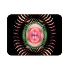 Fractal Plate Like Image In Pink Green And Other Colours Double Sided Flano Blanket (Mini)