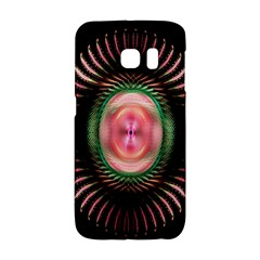 Fractal Plate Like Image In Pink Green And Other Colours Galaxy S6 Edge