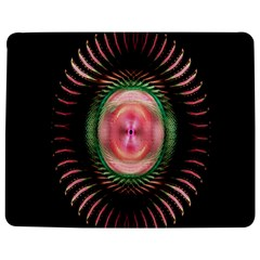 Fractal Plate Like Image In Pink Green And Other Colours Jigsaw Puzzle Photo Stand (Rectangular)