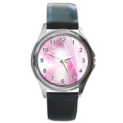 Realm Of Dreams Light Effect Abstract Background Round Metal Watch