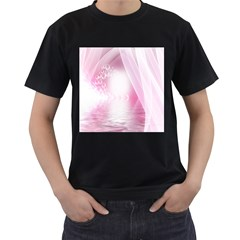 Realm Of Dreams Light Effect Abstract Background Men s T Shirt (black) (two Sided)