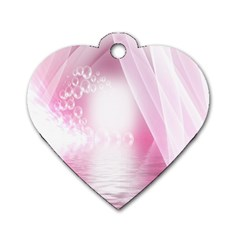 Realm Of Dreams Light Effect Abstract Background Dog Tag Heart (two Sides)