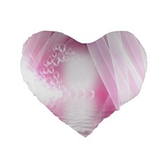 Realm Of Dreams Light Effect Abstract Background Standard 16  Premium Flano Heart Shape Cushions