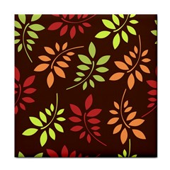 Leaves Wallpaper Pattern Seamless Autumn Colors Leaf Background Tile Coasters