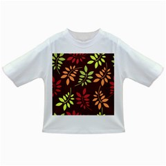 Leaves Wallpaper Pattern Seamless Autumn Colors Leaf Background Infant/toddler T Shirts