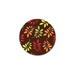 Leaves Wallpaper Pattern Seamless Autumn Colors Leaf Background Golf Ball Marker (4 Pack)