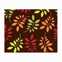 Leaves Wallpaper Pattern Seamless Autumn Colors Leaf Background Small Glasses Cloth