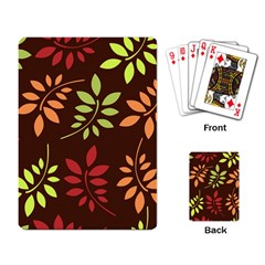 Leaves Wallpaper Pattern Seamless Autumn Colors Leaf Background Playing Card