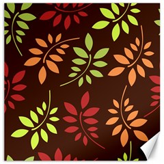 Leaves Wallpaper Pattern Seamless Autumn Colors Leaf Background Canvas 16  X 16