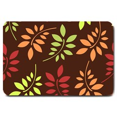 Leaves Wallpaper Pattern Seamless Autumn Colors Leaf Background Large Doormat