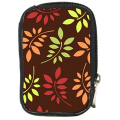 Leaves Wallpaper Pattern Seamless Autumn Colors Leaf Background Compact Camera Cases