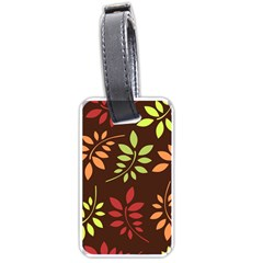 Leaves Wallpaper Pattern Seamless Autumn Colors Leaf Background Luggage Tags (Two Sides)