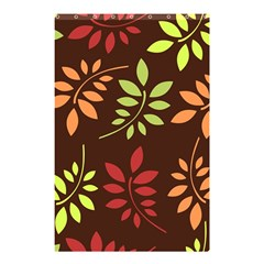 Leaves Wallpaper Pattern Seamless Autumn Colors Leaf Background Shower Curtain 48  X 72  (small)